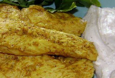 Курица запеченная в маринаде из кефира