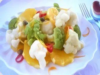 Салат из цветной капусты с апельсинами