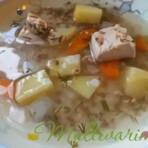 Суп с гречкой и куриццей